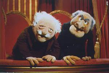 Waldorf (left) and Statler (right)